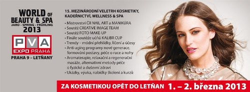 15. kosmetick� veletrh WORLD OF BEAUTY & SPA jaro 2013